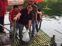 Tebar Benih Ikan di Danau Tondano, wabup RD Bicara Soal Pelestarian