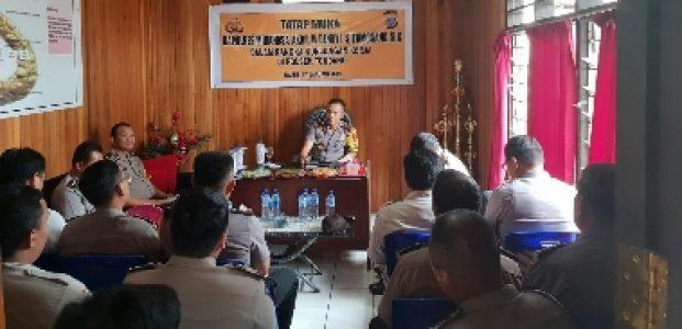 Kunker di Polsek-Polsek, Kapolres Minahasa Sampaikan Program Kapolda