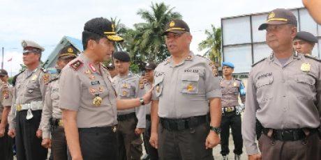 Cek Kesiapan Pengamanan Pemilu 2019, Kapolda Sulut Kunjungi Polres Minahasa