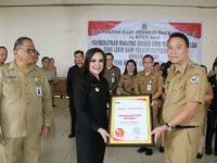 Pemkot Tomohon Terima Piagam Apresiasi KPK Soal Kepatuhan Pelaporan LKHPN