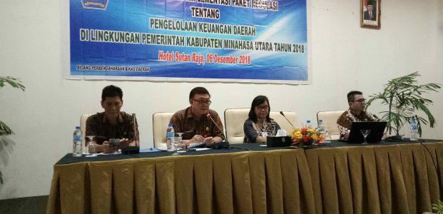 Badan Keuangan Minut Gelar Bimtek Pengelolaan Keuangan Daerah