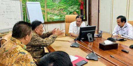 Gubernur Olly Bertemu Menteri Sofyan Djalil Bicarakan Soal Persiapan Lahan Proyek Infrastruktur di Sulut