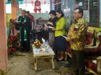 Mewakili Wali Kota Tomohon, Max Mentu Hadiri Peletakan Batu Pertama TK Maranatha Kinilow