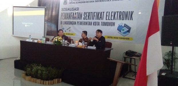 Diskominfo Tomohon Sosialisasikan Pemanfaatan Sertifikat Elektronik