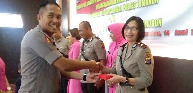 Usai Sertijab Joyce Wowor Ajak Rekan Polres Tomohon Tetap Kompak Ciptakan Prestasi