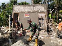 Bersama Warga, Tentara Kodim Blora Rampungkan Perehaban Mushola