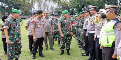 Gelar Apel Bersama, TNI-Polri Siap Amankan Kunker Presiden Jokowi di Sulut